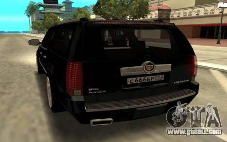 Cadillac Escalade Platinum for GTA San Andreas back left view
