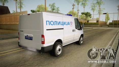 Ford Transit Police for GTA San Andreas left view