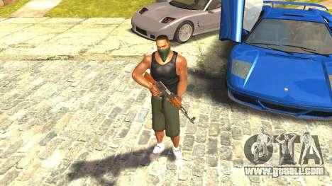 Remastered Cj Skin HD 2017 for GTA San Andreas second screenshot