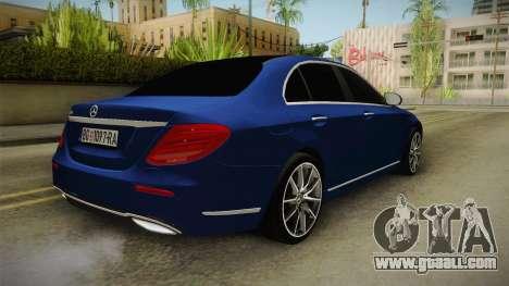 Mercedes-Benz E530 Serbian Mafia for GTA San Andreas back left view