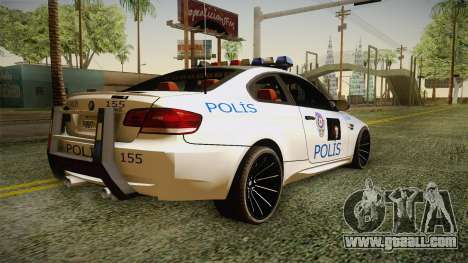 BMW M3 Turkish Police for GTA San Andreas