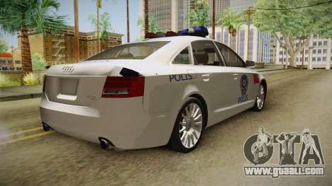 Audi A6 Turkish Police for GTA San Andreas back left view