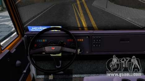 KamAZ 5460 v2 for GTA San Andreas inner view