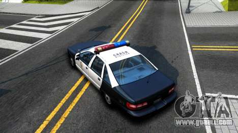 Chevrolet Caprice Police for GTA San Andreas back view