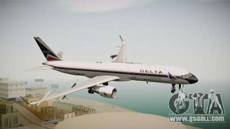 Boeing 757-200 Delta Air Lines (Widget) for GTA San Andreas back left view
