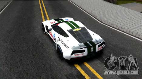 Chevrolet Corvette C7R GTE 2014 for GTA San Andreas back view