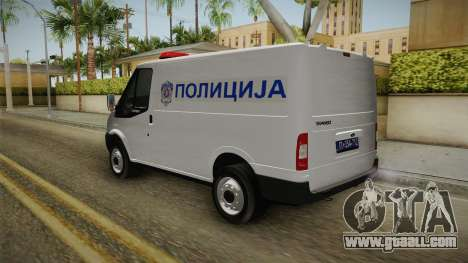 Ford Transit Police for GTA San Andreas back left view