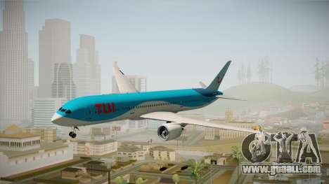 Boeing 787 TUI Airlines for GTA San Andreas back left view