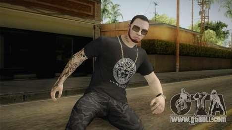 Anuel AA Camisa Versace for GTA San Andreas