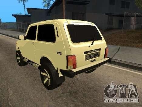 Vaz 2121 Niva Armenian for GTA San Andreas back left view