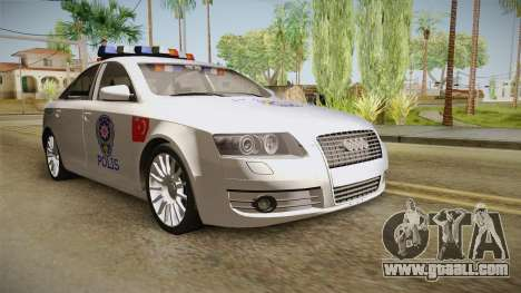 Audi A6 Turkish Police for GTA San Andreas right view
