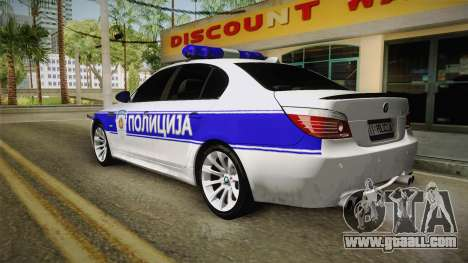BMW M5 a e60 Police for GTA San Andreas left view