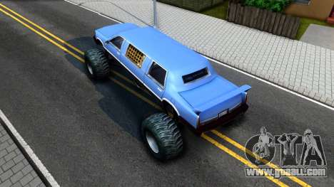 Stretch Monster Truck for GTA San Andreas back view