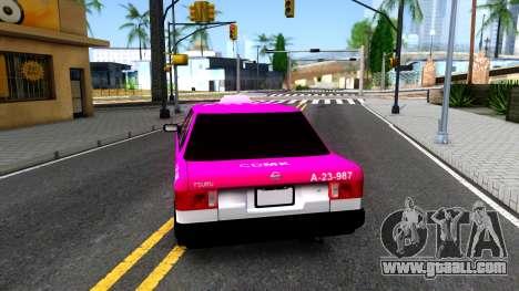 Nissan Tsuru Taxi for GTA San Andreas back left view