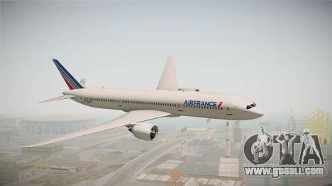 Boeing 787 Air France for GTA San Andreas back left view