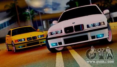 BMW M3 E36 ZLO for GTA San Andreas right view