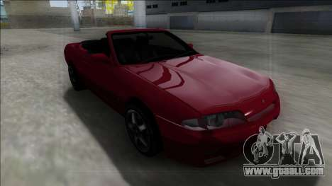 Nissan Skyline R32 Cabrio for GTA San Andreas back view