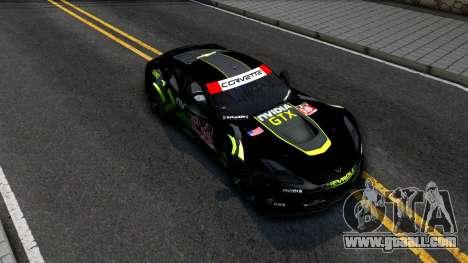 Chevrolet Corvette C7R GTE 2014 for GTA San Andreas side view