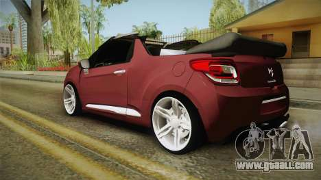 Citroen DS3 for GTA San Andreas left view