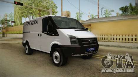 Ford Transit Forenzika for GTA San Andreas right view