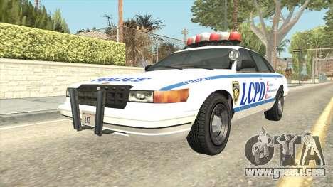 GTA 4 Police Stanier SA Style for GTA San Andreas