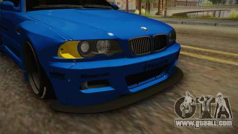 BMW M3 E46 Liberty Walk Pandem Livery for GTA San Andreas upper view