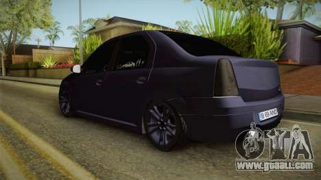Dacia Logan Low Style for GTA San Andreas back left view