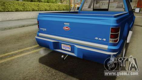 GTA 5 Vapid Sadler IVF for GTA San Andreas inner view