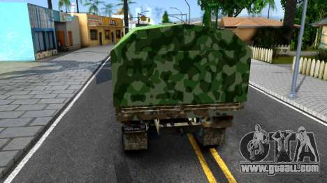 KamAZ 6350 for GTA San Andreas back left view