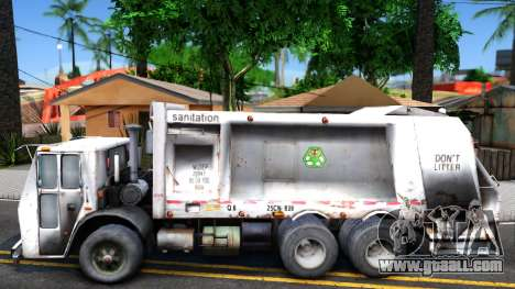 ORC Garbage Truck for GTA San Andreas left view
