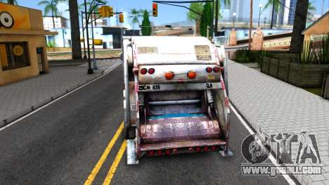 ORC Garbage Truck for GTA San Andreas back left view