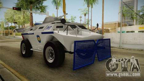 Turkish Police APC with Water Cannon for GTA San Andreas right view