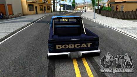 Derby Bobcat for GTA San Andreas back left view