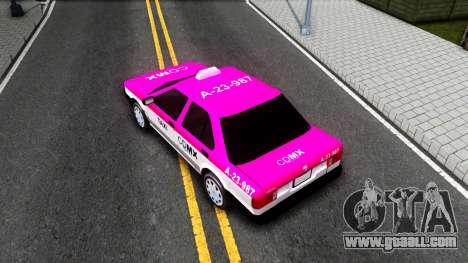 Nissan Tsuru Taxi for GTA San Andreas back view