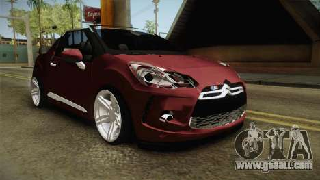 Citroen DS3 for GTA San Andreas right view