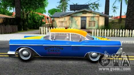 GTA V Declasse Cabbie for GTA San Andreas left view