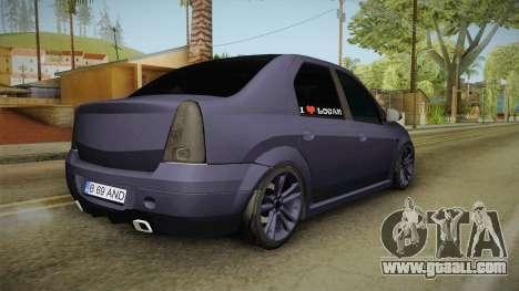 Dacia Logan Low Style for GTA San Andreas left view