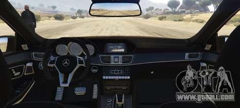 GTA 5 Mercedes-Benz E63 AMG 2013 rear left side view