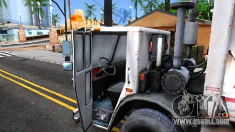 ORC Garbage Truck for GTA San Andreas inner view
