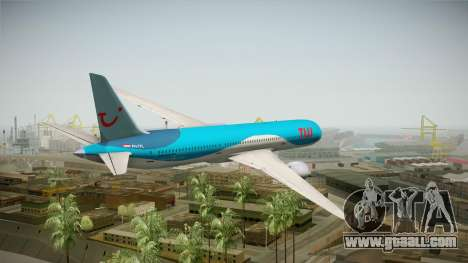 Boeing 787 TUI Airlines for GTA San Andreas left view