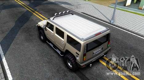 Hummer H2 for GTA San Andreas back view