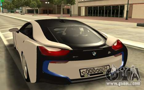 BMW i8 for GTA San Andreas back left view