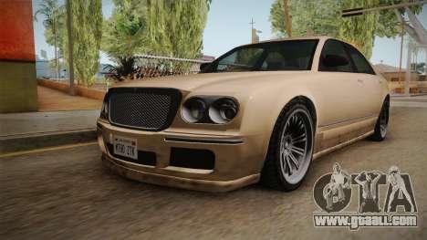 GTA 5 Enus Cognoscenti 55 SA Style for GTA San Andreas back left view