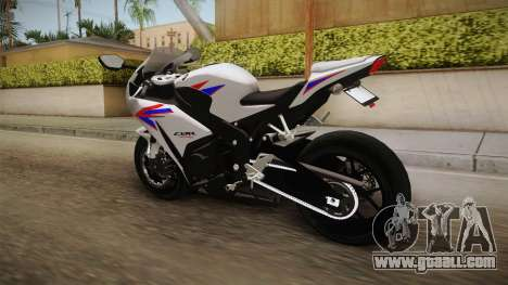 Honda CBR1000RR HRC 2012 for GTA San Andreas back left view