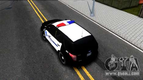 Ford Explorer Police for GTA San Andreas back view