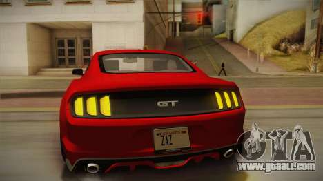 Ford Mustang GT 2015 5.0 PJ for GTA San Andreas engine