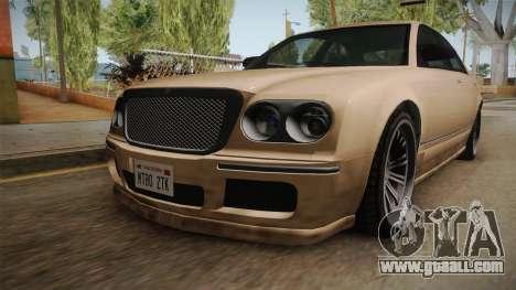 GTA 5 Enus Cognoscenti 55 SA Style for GTA San Andreas back view