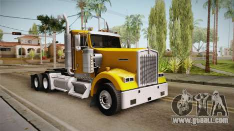 Kenworth W900 ATS 6x2 Middit Cab Low for GTA San Andreas right view
