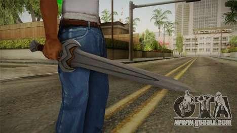 Injustice: Gods Among Us - Amazonian Sword for GTA San Andreas third screenshot