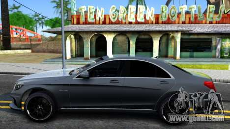 Mercedes-Benz S63 AMG for GTA San Andreas left view